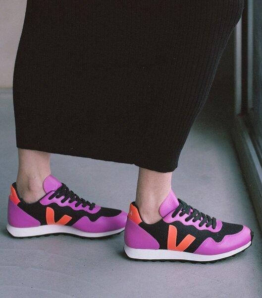 Sneaker Damen - Sdu Hexa B-mesh - Black Ultraviolet Orange Fluo