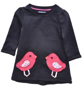 Kleid Mädchen blau 100% Baumwolle ( bio)  Gr.122/128 110/116 98/104 - Enfant Terrible