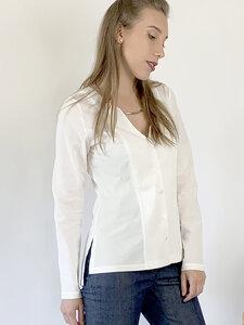Minimalistisches weißes Hemd - Mel Scherer