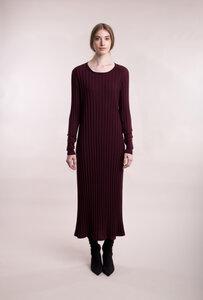 Langes Kleid mit breitem Rippenmuster - Mila.Vert