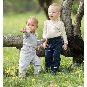 Baby Hose mit Nabelbund Bio-Baumwolle - Engel natur
