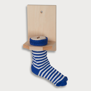Sparstrumpf | rot oder blau | aus Holz | nachhaltig | unbehandelt - Calmterra