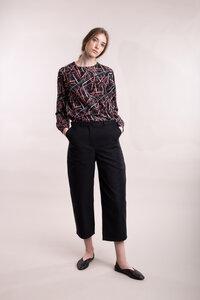 Bluse mit abstraktem Print - Mila.Vert