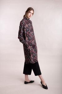 Hemdkleid mit abstraktem Print - Mila.Vert