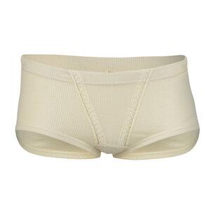 Damen Panty mit Spitzeneinsatz Bio-Baumwolle - Engel natur