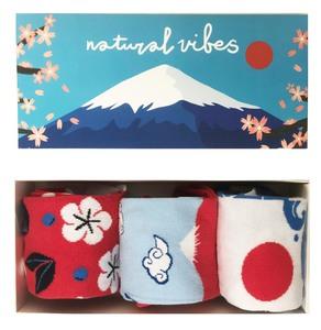 Socken geschenkboxen Bio GOTS   Bunte Socken   Herren Damen   Japanese - Natural Vibes