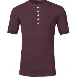 Knowledge Cotton Apparel - Shortsleeve Rib Knit Henley - Knowledge Cotton Apparel