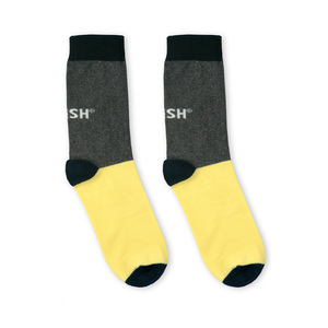 Single Socks (grey + yellow) - Vresh
