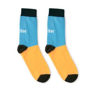 Single Socks (blue + salmon) - Vresh