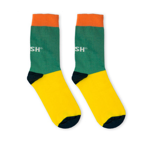 Single Socks (turquoise + yellow) - Vresh