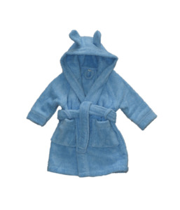 Baby Kinder Bademantel mit Kapuze - Leela Cotton