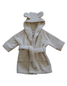 Baby Kinder Bademantel mit Kapuze - Leela Cotton