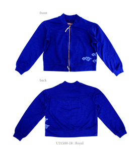 Supima Cotton Unisex French Terry Double Zip Jacket with Clouds - Chakura by Ku Ambiance