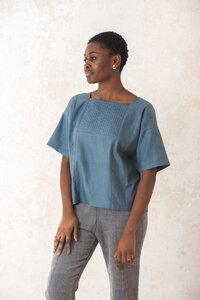 Shirt Rithu Seeblau - Jyoti - Fair Works