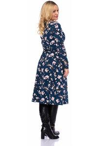 STELLA Hemdblusenkleid aus Modal in (Kirschblüten auf blau) - Ingoria