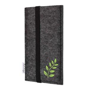 Handyhülle COIMBRA mit Farnblatt für Samsung Galaxy Note-Serie - VEGAN - Filz - flat.design