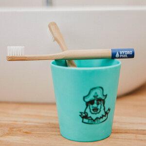 Kinder Zahnbürste aus Bambus | Pack | extra weich | blau - HYDROPHIL