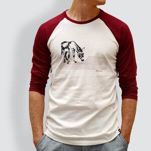 "Herren T-Shirt, ""Eselchen"", 3/4-Raglan-Ärmel - little kiwi"
