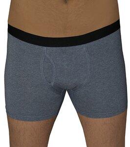 2 er Pack Herren Boxershorts Bio-Baumwolle Unterhose mit Eingriff navy-melange - Albero
