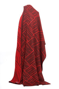 100% Alpaka Decke aus Peru - Jacquard - Apu Kuntur