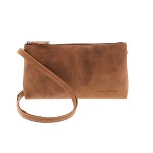 Crossbody-Tasche aus vintage braunem Ökoleder - Maidstone - MoreThanHip