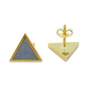 Ohrstecker Dreieck mit Kork | InfinityLove Collection - KAALEE jewelry