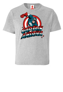LOGOSHIRT - Marvel Comics - Captain America - Kinder - Bio T-Shirt  - LOGOSH!RT