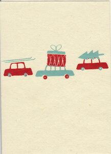 Weihnachtskarte Auto - Salon Elfi