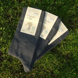graue Herrensocken (3er Pack) - grödo