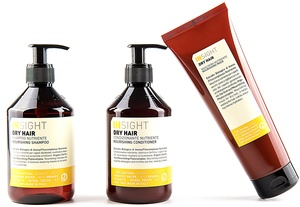 DRY HAIR/ TROKENES HAAR 400ml SHAMPOO + 400ml CONDITIONER+ 250ml MASKE - Insight