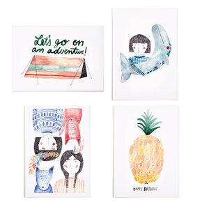Postkarten-Set mit 4 verschiedenen Postkarten - Gretas Schwester