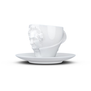 Goethe Talent Porzellan Tasse mit Unterteller - FIFTYEIGHT PRODUCTS