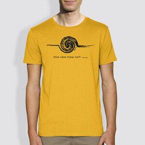 """Herren T-Shirt, """"Störe meine Kreise nicht"""", Gelb / Grau - little kiwi"""
