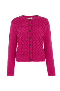 Strickjacke Pink - Honeycomb Cardigan - People Tree