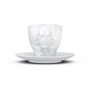 Talent Tasse mit Henkel und Unterteller Shakespeare - FIFTYEIGHT PRODUCTS