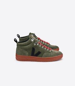 Sneaker Damen - Roraima Suede - Olive Black Rust Sole - Veja