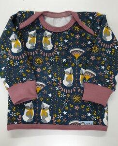 Kinder-/Babyshirt Sommersweat Winterbären petrol - Omilich