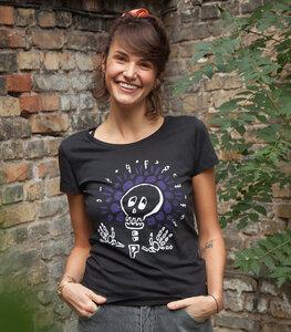 Sugar Skull Halloween - Fair Wear Frauen T-Shirt - Black - päfjes