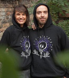 Halloween Skull - Fair Wear Unisex Hoodie - Black - päfjes