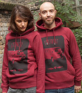 Freiheit - Unisex Fair Wear Hoodie - Bordeaux - päfjes