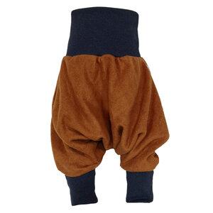 Yogahose Pumphose Bio Fleece braun Bündchenfarben nach Wahl - liebewicht