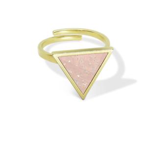 InfinityLove | Dreieckiger Ring mit Kork | Größenverstellbar - KAALEE jewelry