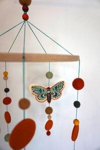 Mobile Schmetterlinge Herbstfarben - HipHip-Hurra