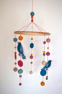 Mobile Vögel - Sitzriese