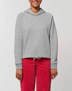 Hoodie Damen, Pullover mit Kapuze, kurz geschnitten, Bio-Hoodie, Bio Baumwolle - YTWOO