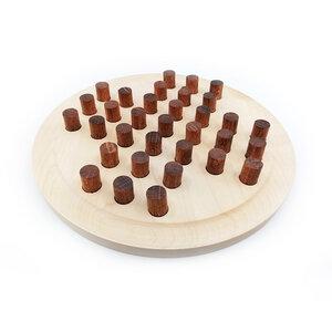 Solitär Spiel aus Holz mit Stiften handgefertigt - Lajos Varga