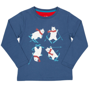 Kite Kinder Langarm-Shirt Ski-Bär - Kite Clothing