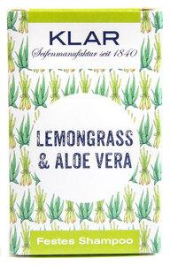 Klars festes Haarshampoo Lemongrass Aloe Vera  - Klar Seifen