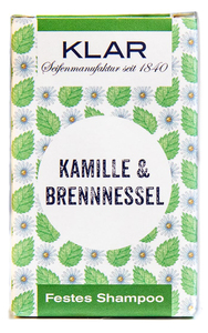 Klars festes Haarshampoo Kamille Brennessel  - Klar Seifen