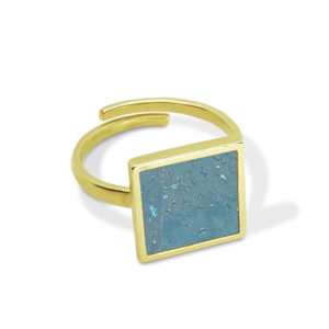 InfinityLove | Quadratischer Ring mit Kork | Größenverstellbar - KAALEE jewelry